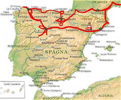 Cartina Rilievi Spagna.Spagna Del Nord Diario Di Viaggio Sottocoperta Net