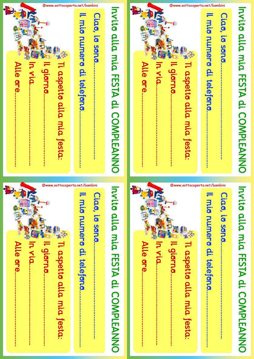 Stampa Linvito Alla Festa Di Compleanno Sottocopertanet