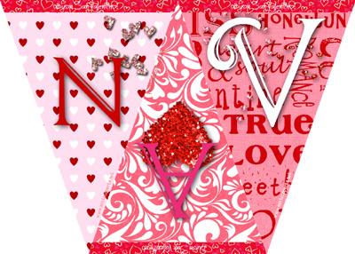 Bandierine di Buon San Valentino