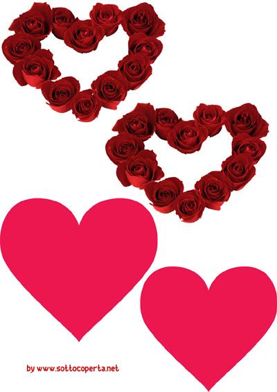 Cuori da stampare di San Valentino