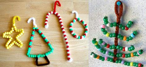Lavoretti Di Natale Con Perline.Albero Di Natale Con Addobbi Di Perline Sottocoperta Net