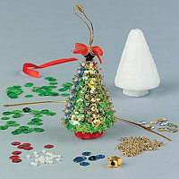 Lavoretti Di Natale Con Il Polistirolo.Decorazioni Di Natale Con Spilli Polistirolo Paillettes E