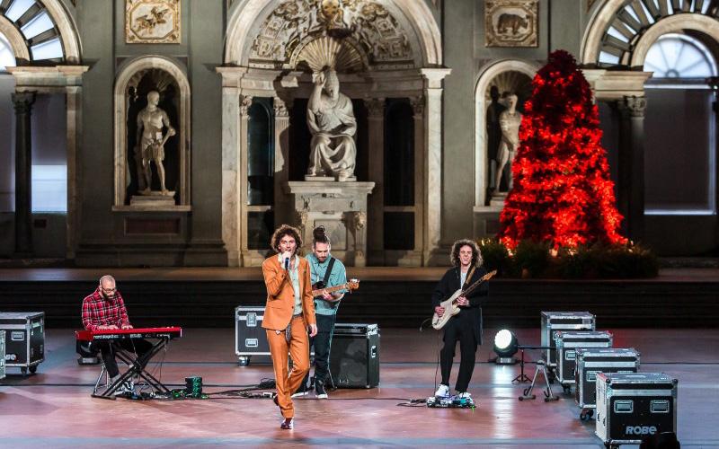 Capodanno 2021 da Palazzo Vecchio, Firenze