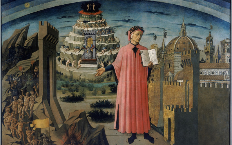 """La Divina Commedia illumina Firenze"""" del Domenico di Michelino"""